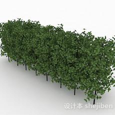 圆形小树叶灌木林3d模型下载
