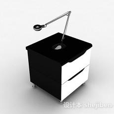 黑白床头柜3d模型下载