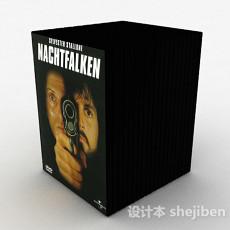 黑色DVD光盘套装3d模型下载