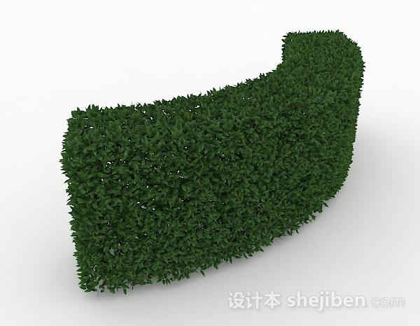 披针形树叶灌圆形造型