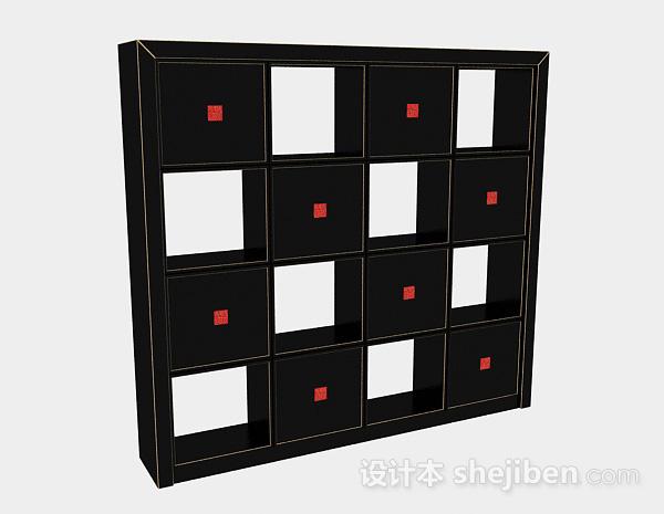 时尚黑色家居柜子