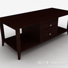 现代风单层木质电视柜3d模型下载