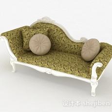 欧式风格布艺双人沙发3d模型下载