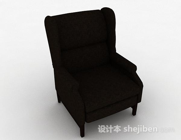 棕色布艺休闲椅