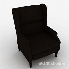 棕色布艺休闲椅3d模型下载