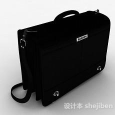 黑色手提公文包3d模型下载