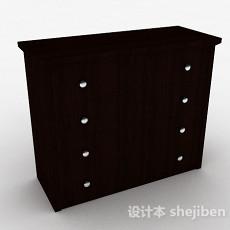 棕色木质家居厅柜3d模型下载
