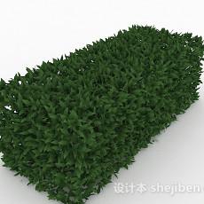 披针形树叶灌木方形造型3d模型下载