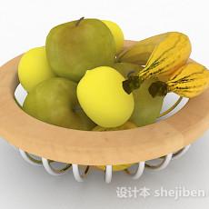 木质水果果篮3d模型下载
