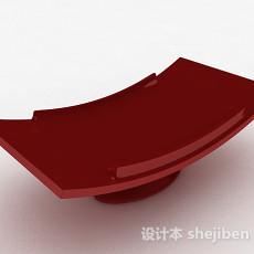 红色餐盘3d模型下载
