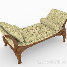 田园风格家居沙发凳3d模型下载