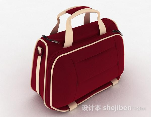红色女士运动包