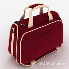 红色女士运动包3d模型下载