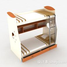 现代风格双层单人床3d模型下载