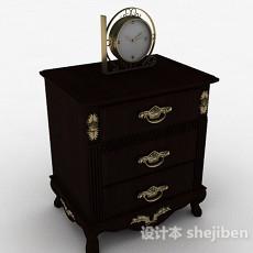 中式风格家居床头柜3d模型下载