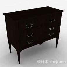 中式风格床头柜3d模型下载