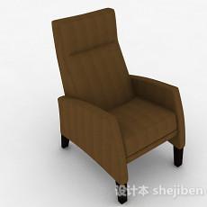 现代棕色布艺家居椅3d模型下载