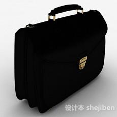 黑色简约手提包3d模型下载