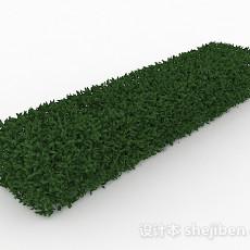 披针形树叶灌木长方形造型3d模型下载