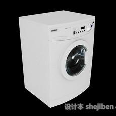 白色滚筒洗衣机3d模型下载
