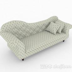 田园风格双人沙发3d模型下载