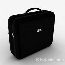黑色双层电脑包3d模型下载