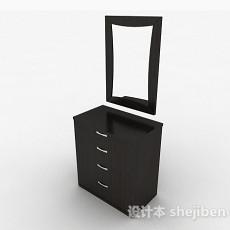 黑色简约梳妆台3d模型下载