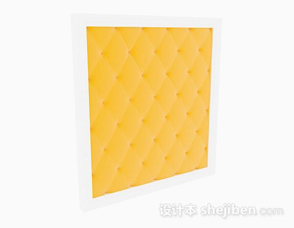 黄色床头软包