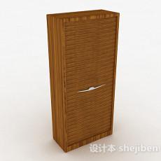 棕色立体衣柜3d模型下载