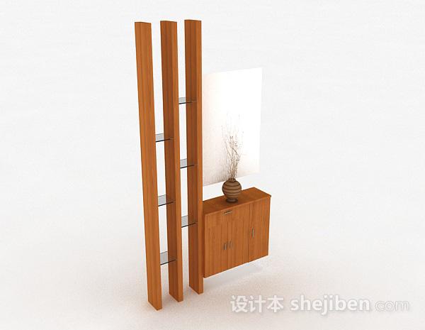 浅木色展示柜隔断