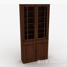 双门立体展示柜3d模型下载