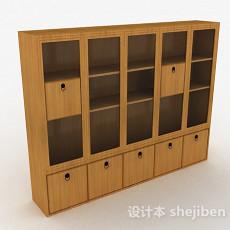 木质多门多层展示柜3d模型下载