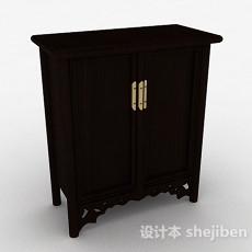 黑色木质立体储物柜3d模型下载