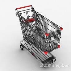 现代风超市购物车3d模型下载