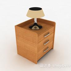 黄色简约床头柜3d模型下载