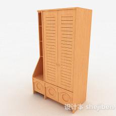 黄色家居衣柜3d模型下载