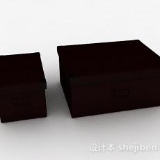 紫色办公文件盒子3d模型下载