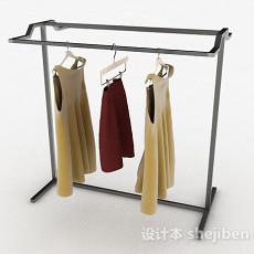 现代风格不锈钢晾衣架3d模型下载