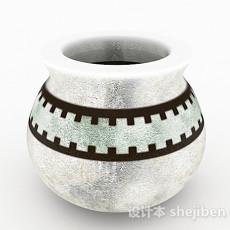 中式风格白色花纹瓷器3d模型下载