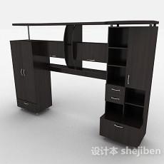 黑色家居衣柜组合3d模型下载