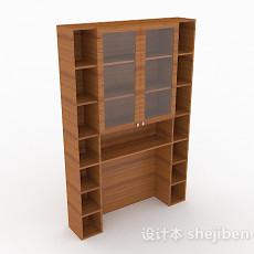 简约木质家居书柜3d模型下载