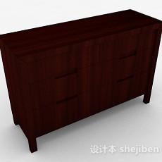 中式简约玄关柜3d模型下载