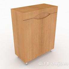 棕色木质衣柜3d模型下载