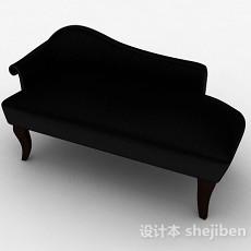 黑色简约多人沙发3d模型下载