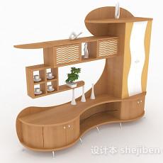 家居木质柜子3d模型下载
