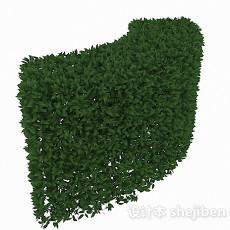披针形树叶灌木弯曲造型3d模型下载