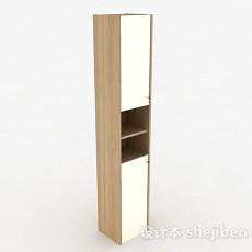 浅木色上下层镜面门储物柜3d模型下载