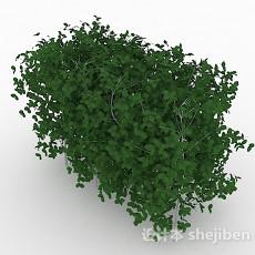 椭圆形树叶灌木树3d模型下载