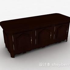 棕色欧式风格木质储物柜3d模型下载