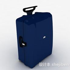 蓝色时尚行李箱3d模型下载